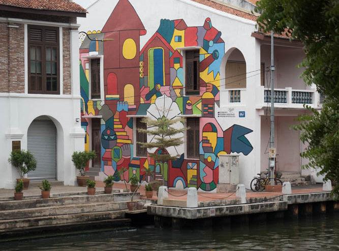 art on Melaka River