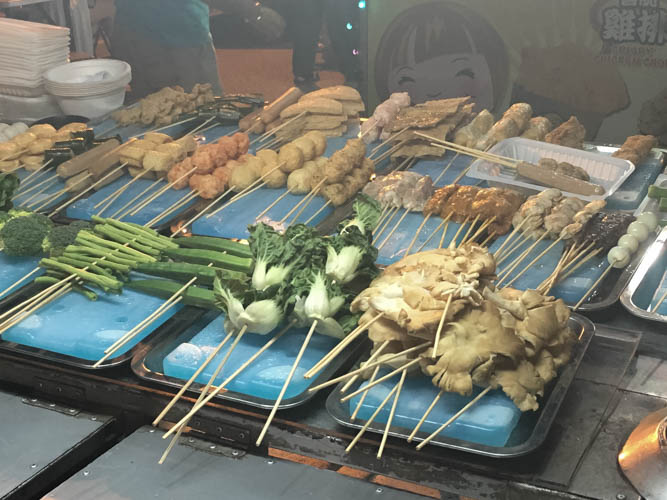Satay Celup selection is a great Malacca food experience