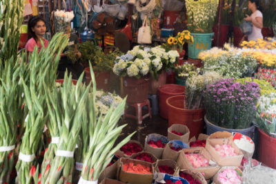 Hi Thi Ky Saigon wholesale flower market