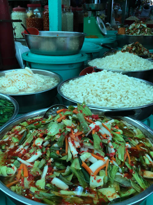 Pickled vegetables at Binh Tay Market