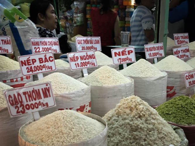 Plenty of different rice options
